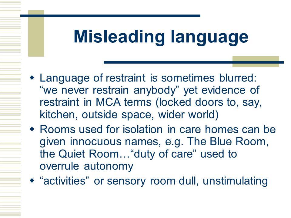 Misleading language