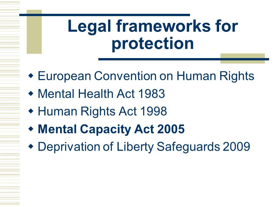 Legal frameworks for protection