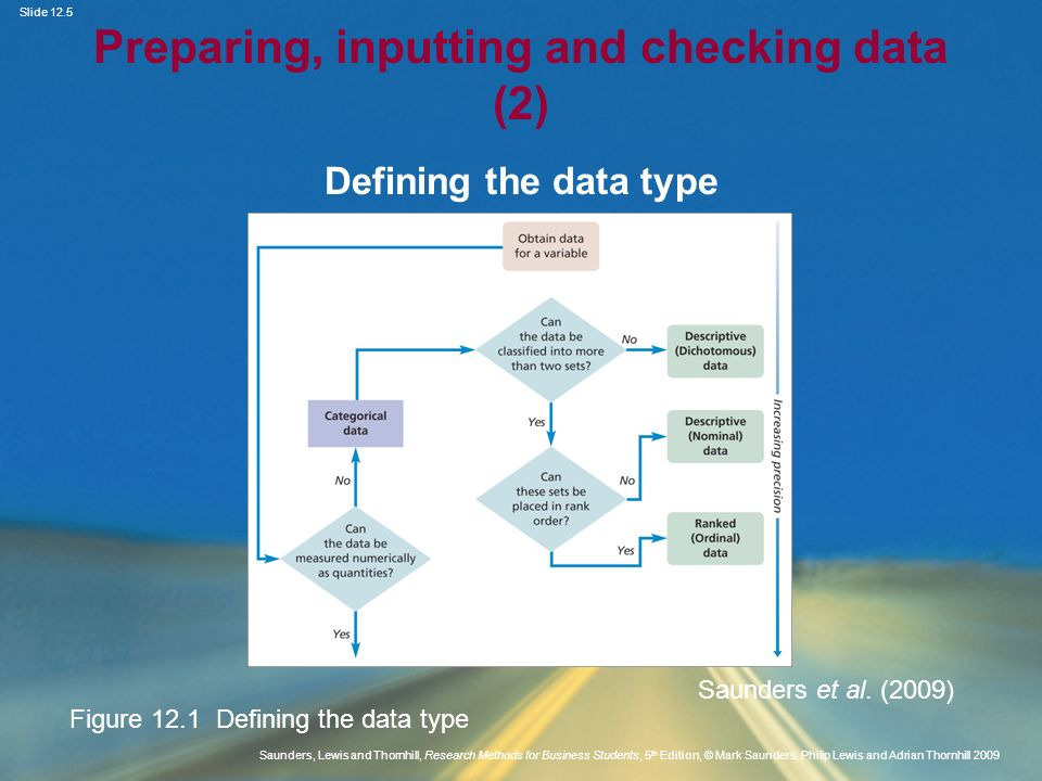 Preparing, inputting and checking data (2)