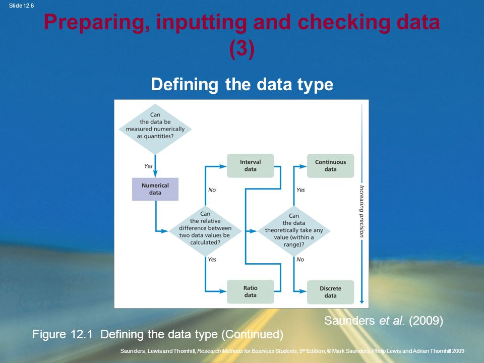 Preparing, inputting and checking data (3)