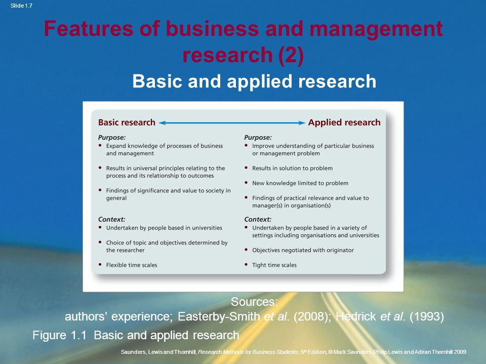 Features of business and management research (2)