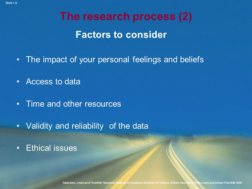 The research process (2)