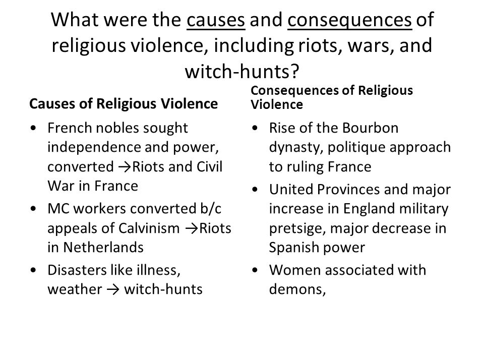 causes and effects of witchcraft Why are children accused of witchcraft there are multiple causes for the recent and growing accusations of witchcraft against children anthropologists and social observers are unanimous in recognizing the complexity of economic, political and social factors that contribute to such accusations.