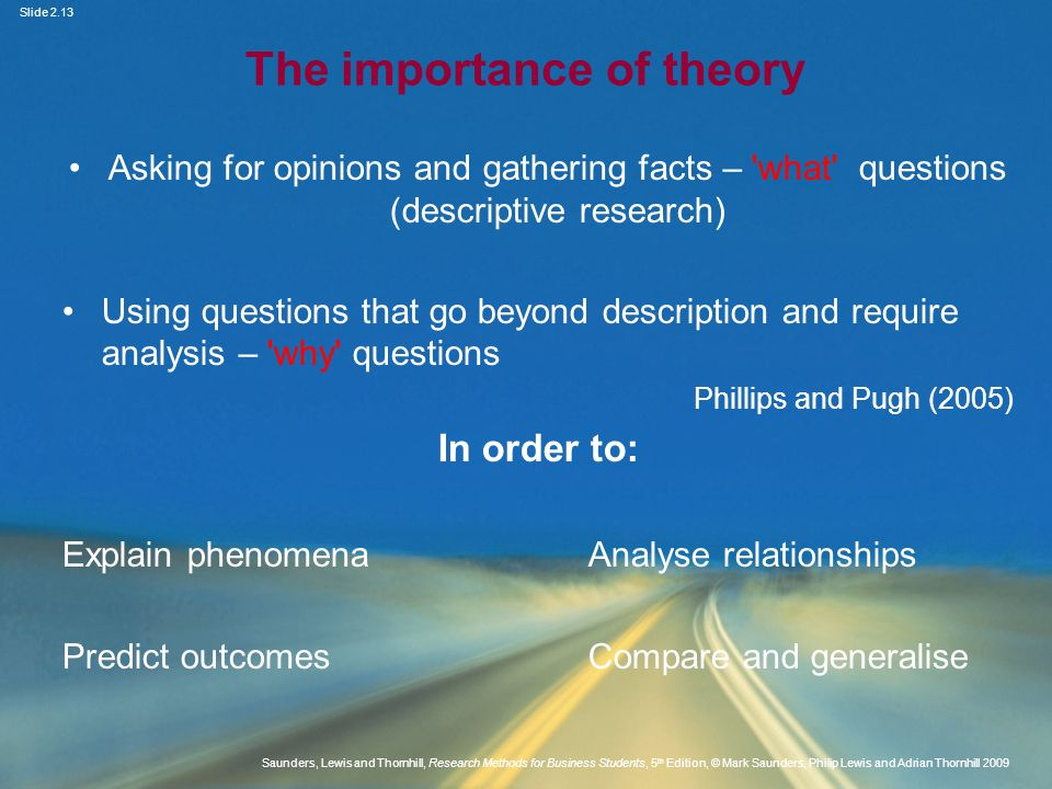 The importance of theory