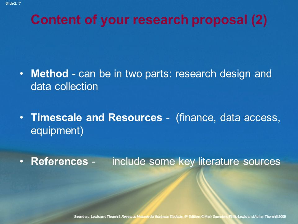 Content of your research proposal (2)