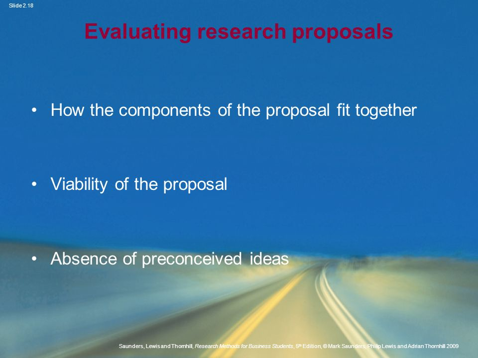 Evaluating research proposals