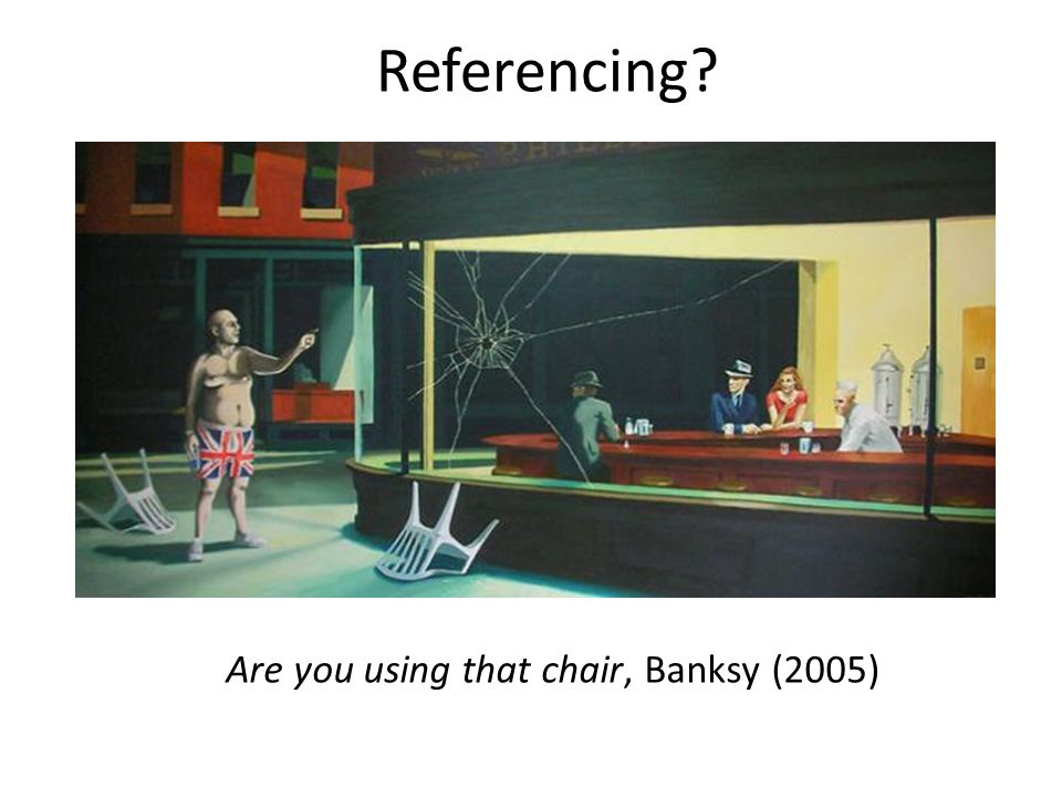 Are you using that chair, Banksy (2005)