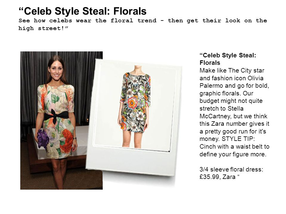 Celeb Style Steal: Florals