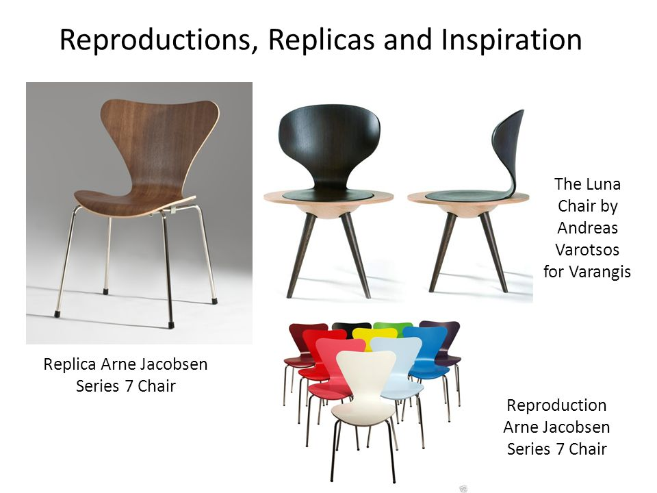 Reproductions, Replicas and Inspiration