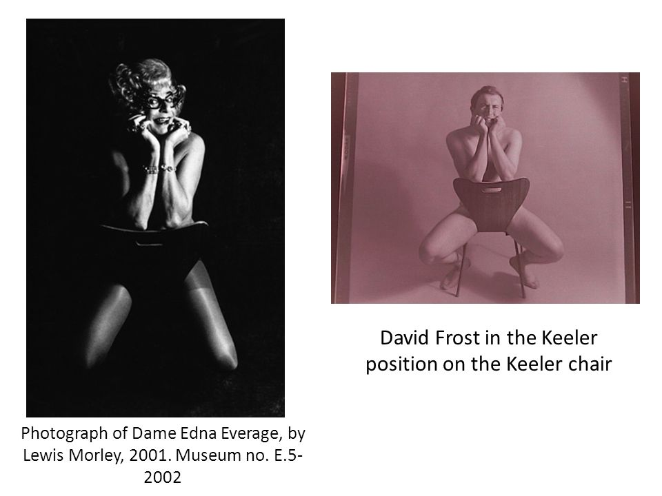 David Frost in the Keeler position on the Keeler chair