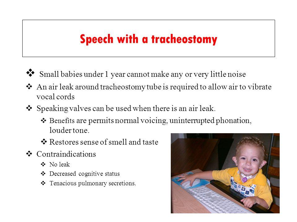 Speech with a tracheostomy