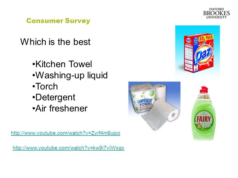 Which is the best Kitchen Towel Washing-up liquid Torch Detergent