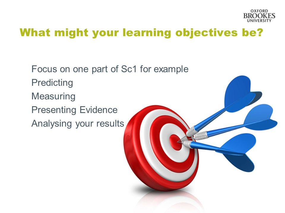 What might your learning objectives be