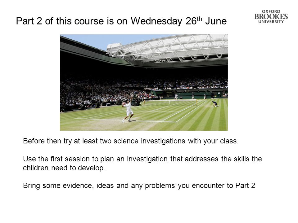 Part 2 of this course is on Wednesday 26th June