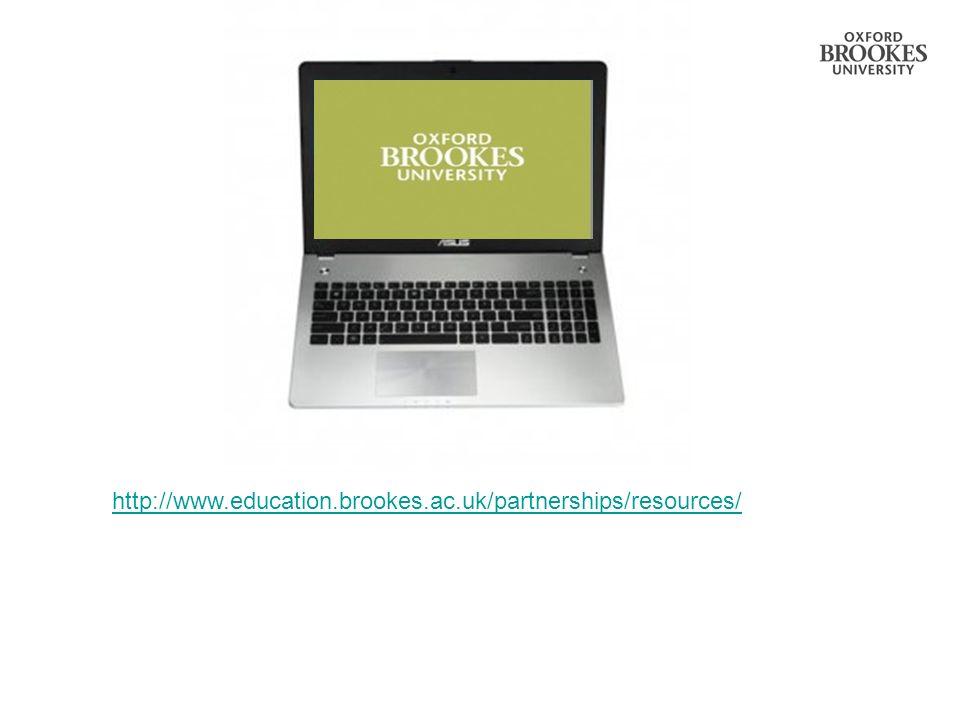 http://www.education.brookes.ac.uk/partnerships/resources/