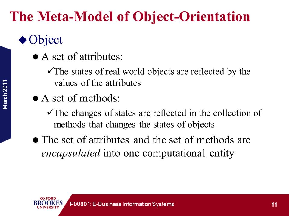 The Meta-Model of Object-Orientation