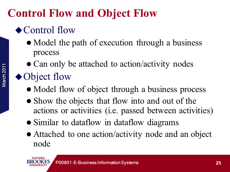 Control Flow and Object Flow