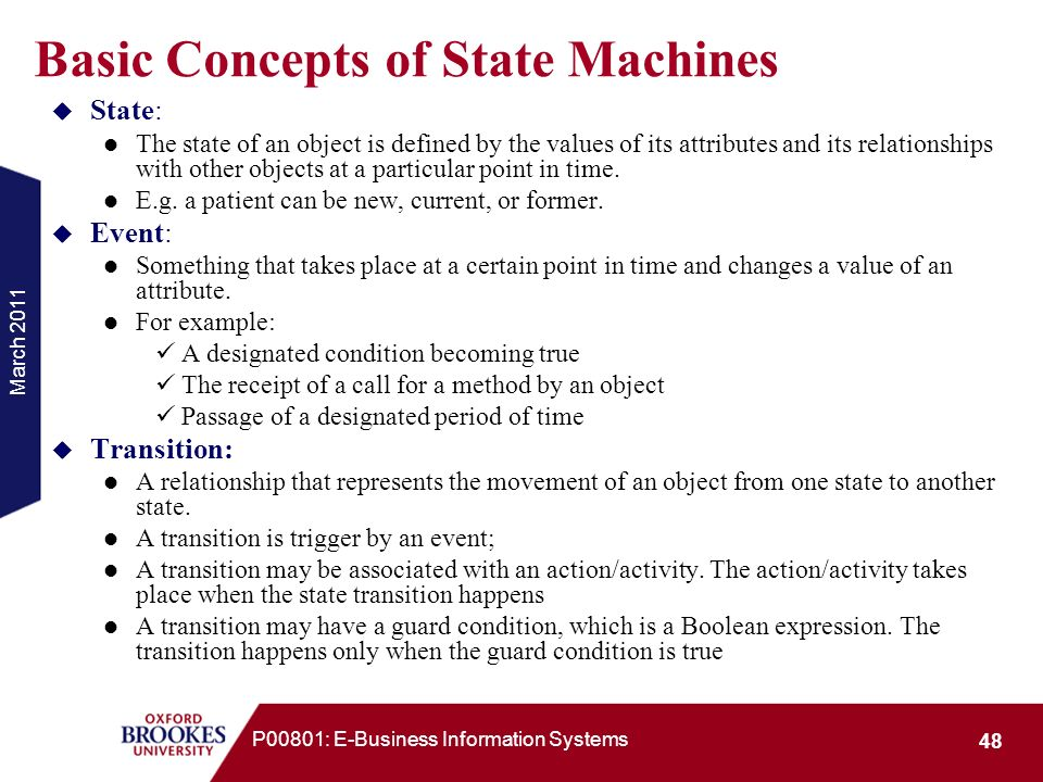 Basic Concepts of State Machines