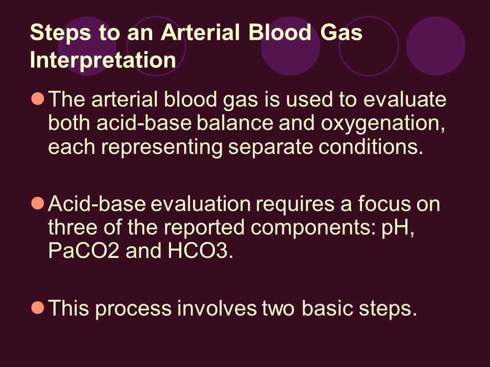 Steps to an Arterial Blood Gas Interpretation