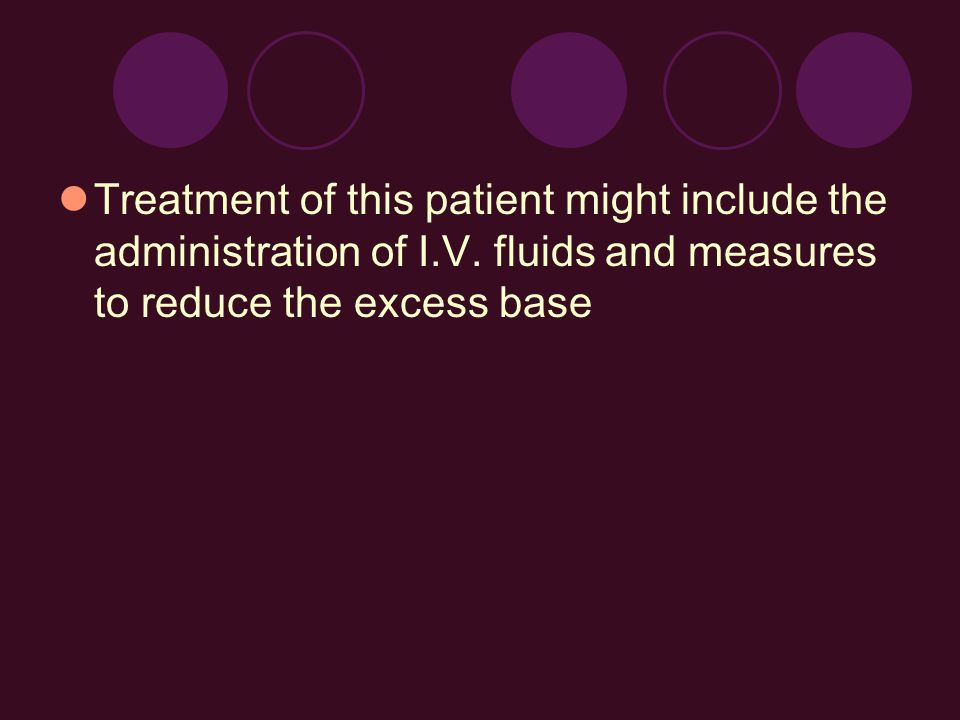 Treatment of this patient might include the administration of I. V