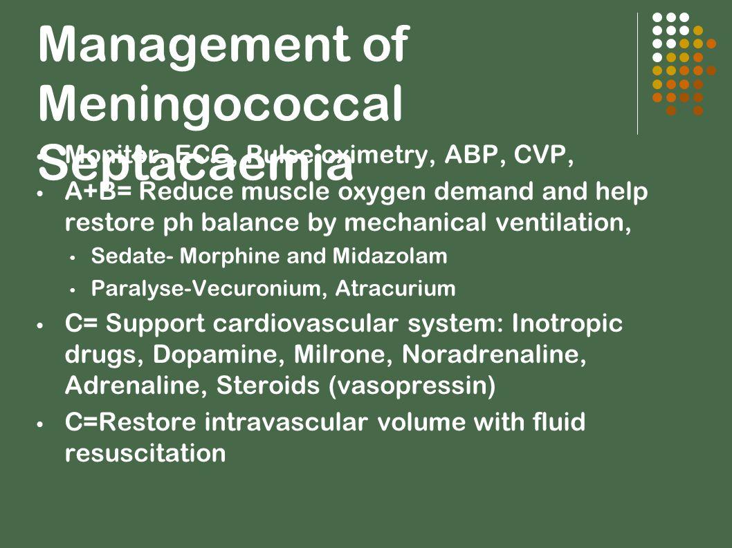 Management of Meningococcal Septacaemia
