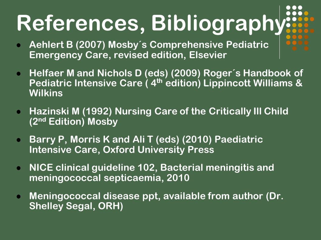 References, Bibliography