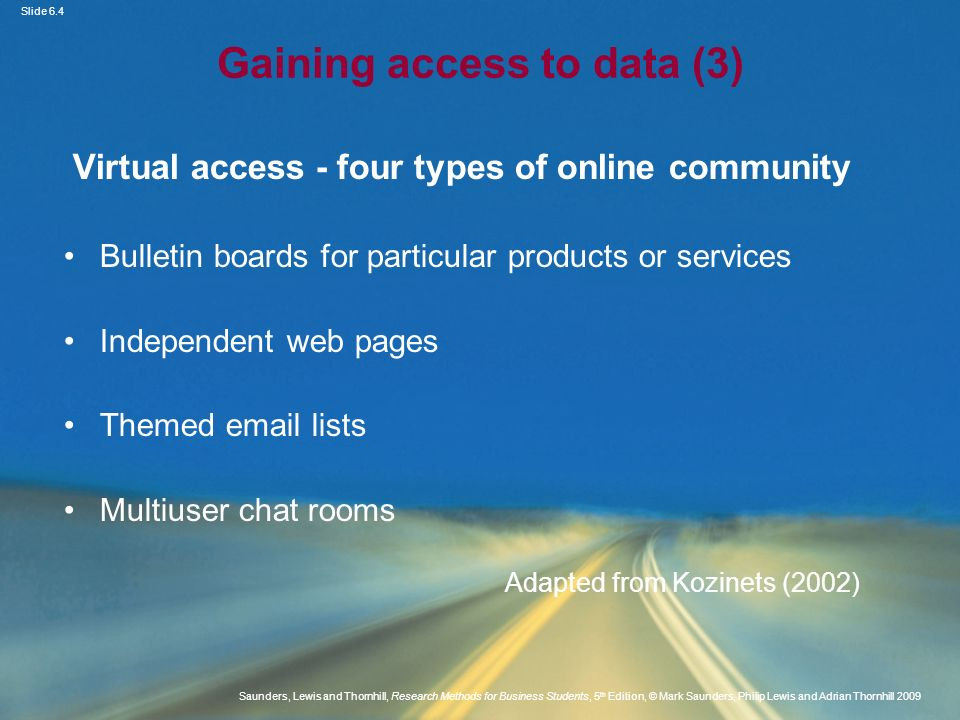 Gaining access to data (3)