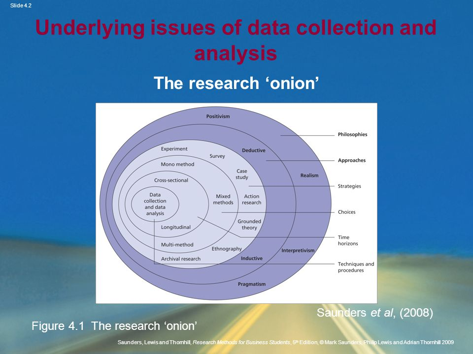 Underlying issues of data collection and analysis
