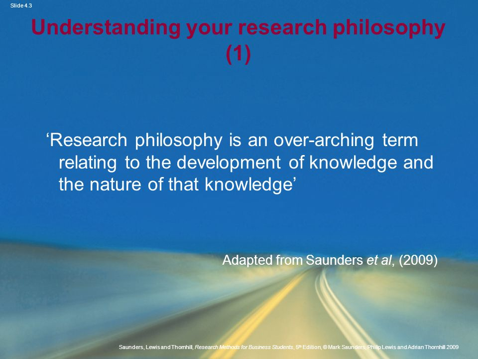 Understanding your research philosophy (1)