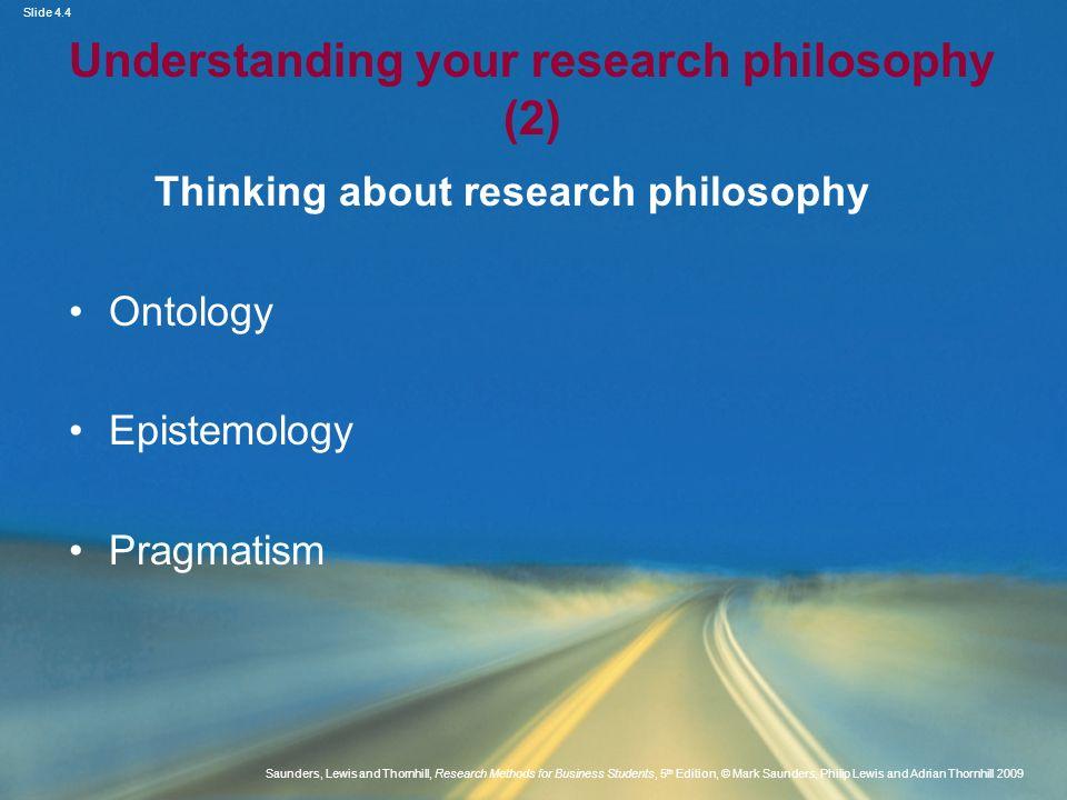 Understanding your research philosophy (2)