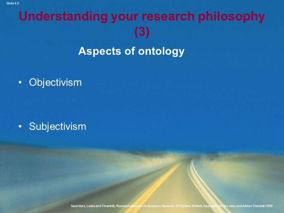 Understanding your research philosophy (3)
