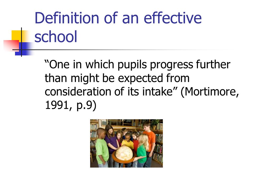 Definition of an effective school