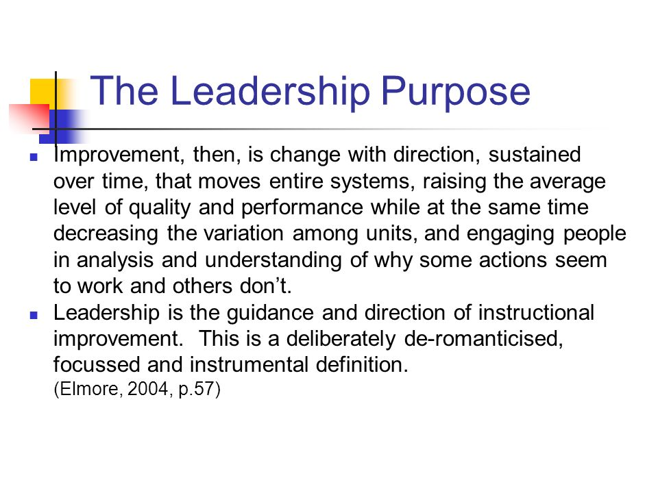 The Leadership Purpose