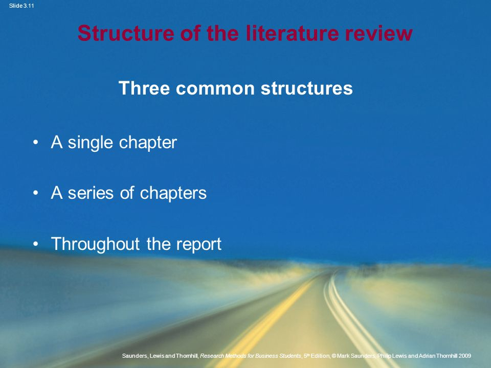 Structure of the literature review