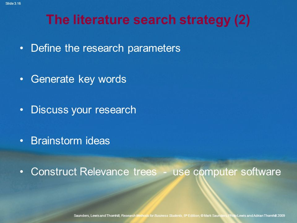 The literature search strategy (2)