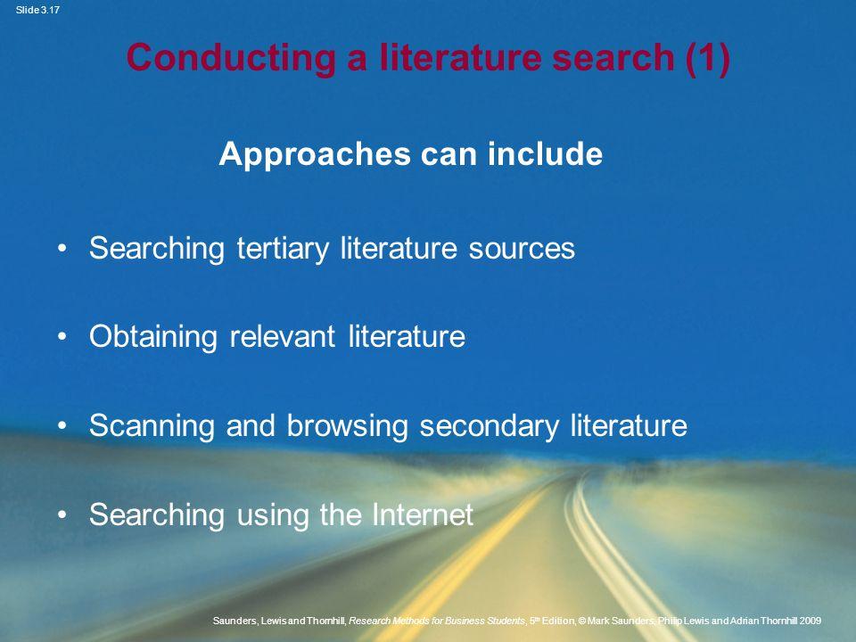 Conducting a literature search (1)