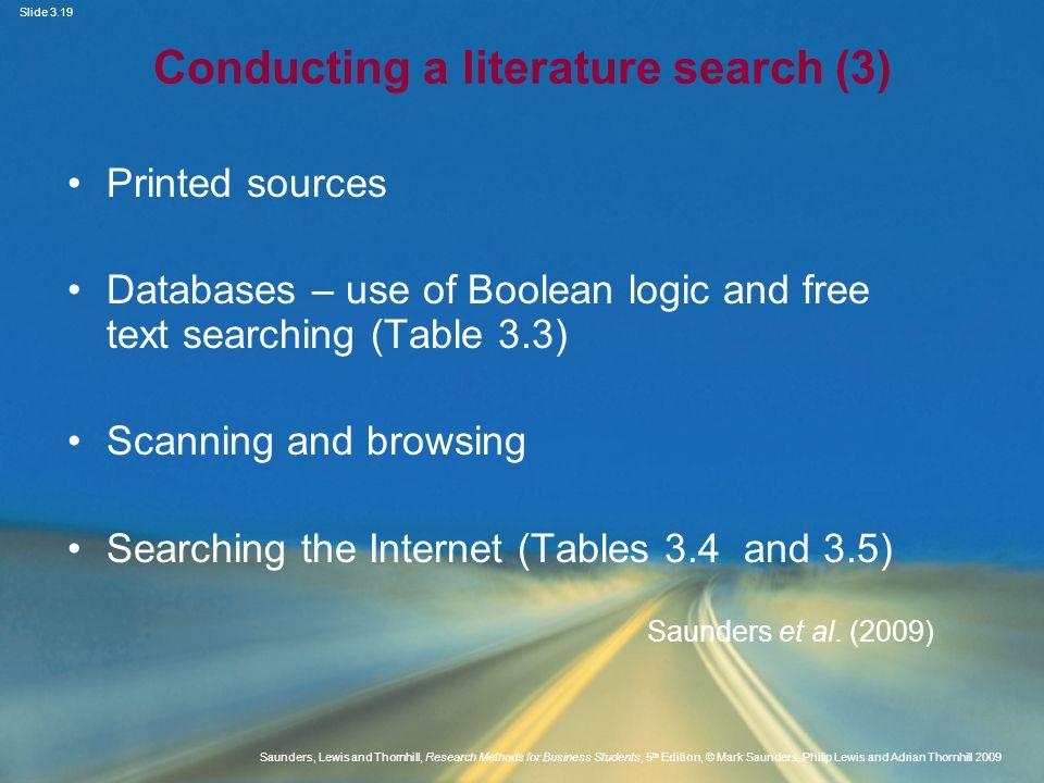 Conducting a literature search (3)