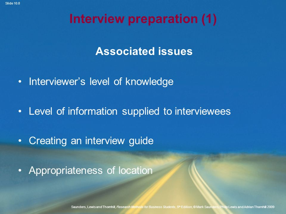 Interview preparation (1)