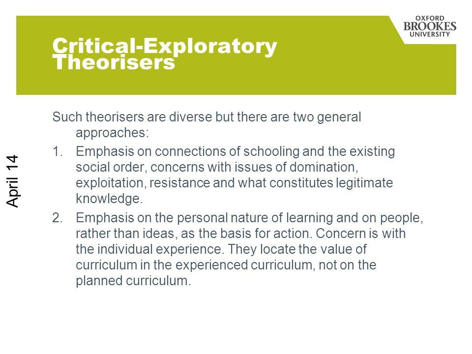 Critical-Exploratory Theorisers
