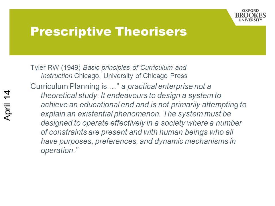 Prescriptive Theorisers