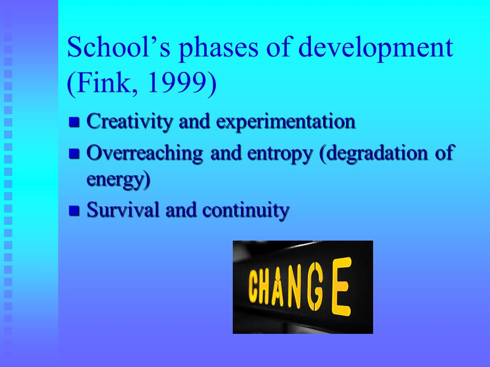 School's phases of development (Fink, 1999)