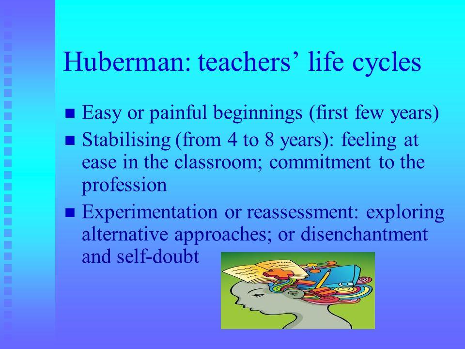 Huberman: teachers' life cycles