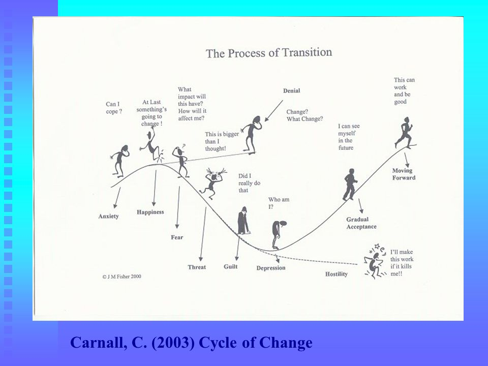 Carnall, C. (2003) Cycle of Change