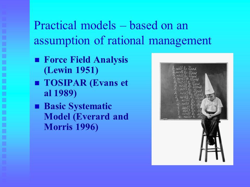 Practical models – based on an assumption of rational management