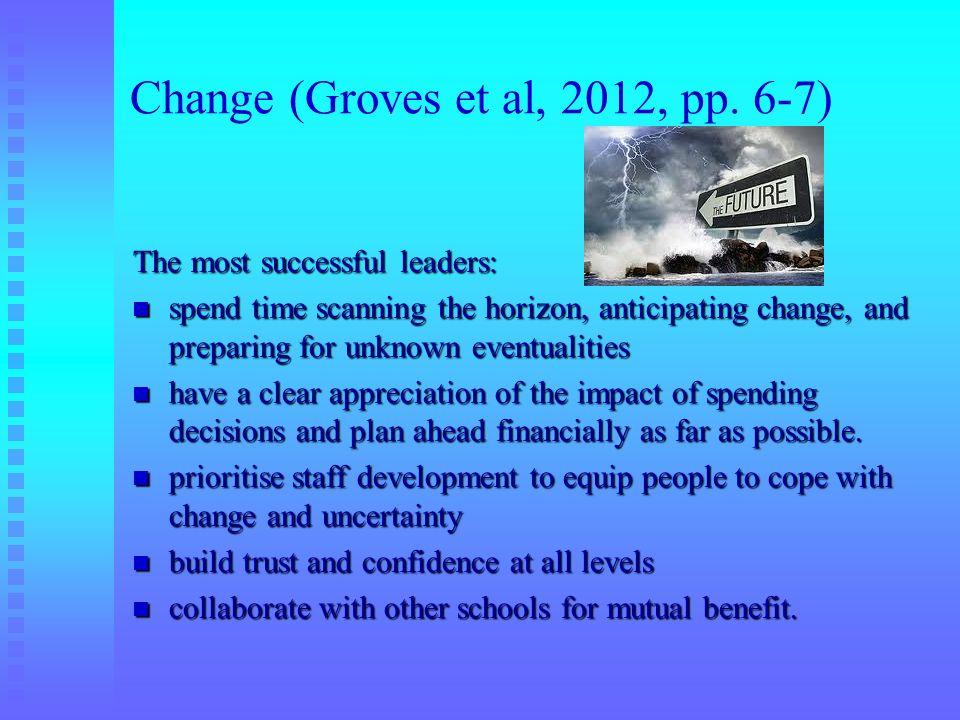 Change (Groves et al, 2012, pp. 6-7)