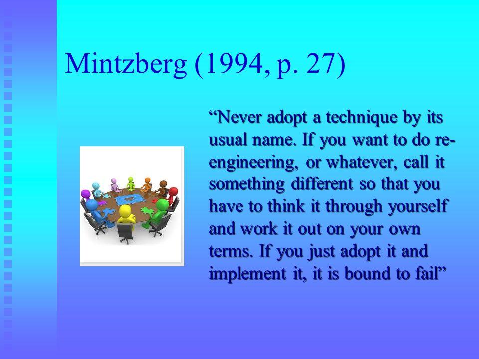 Mintzberg (1994, p. 27)