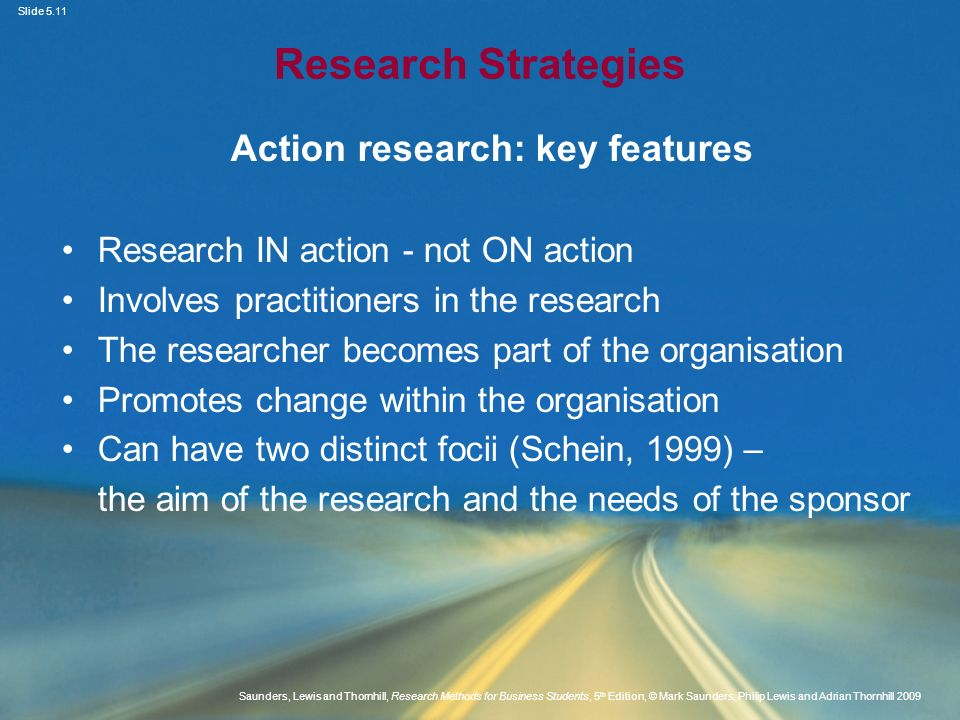 Action research: key features