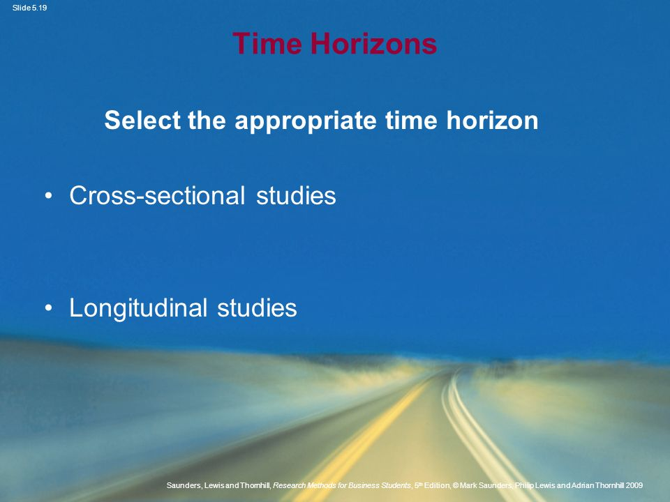 Select the appropriate time horizon