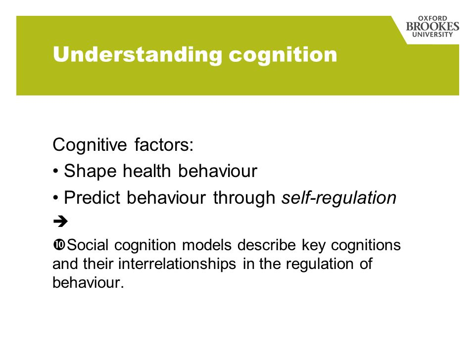 Understanding cognition