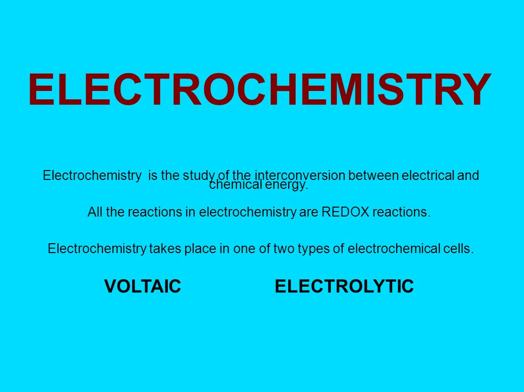 types of electrochemical cells pdf